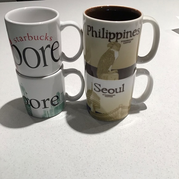 Starbucks Collectors mini mugs lot of four